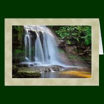 Cauldron Falls, West Burton -  The Yorkshire Dales Greeting Card