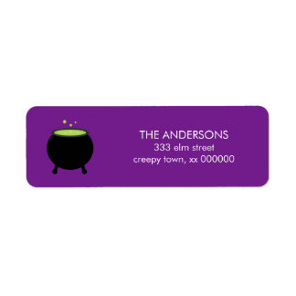 Cauldron Halloween Labels
