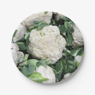 Cauliflower paper plate 7 inch paper plate
