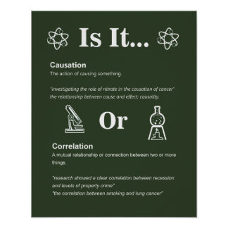 Causation or Correlation? Science Class Rules Poster