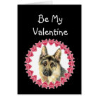 Cause I Woof Love You German Shepherd Valentine Card