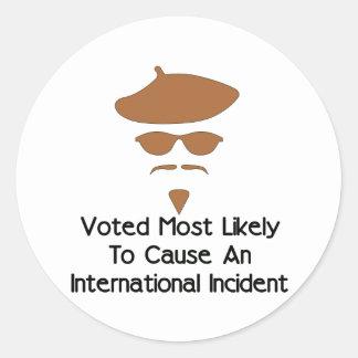 Cause International Incident Sticker