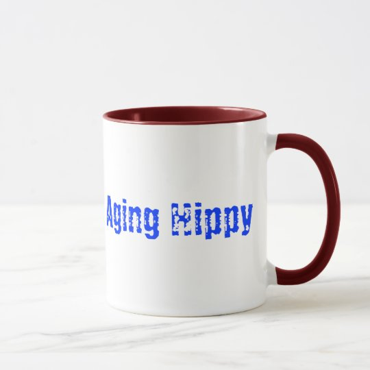 Caution Aging Hippy Coffee Mug