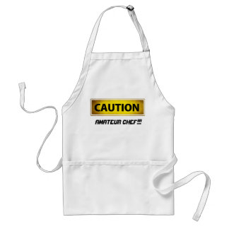 Caution amateur chef standard apron