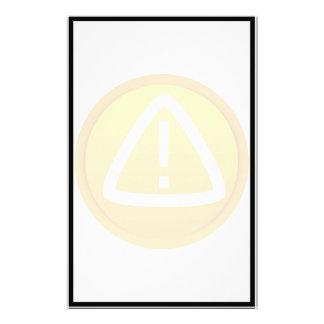 Caution Attention Symbol Stationery Design