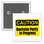 Caution Bachelor Party In Progress Badges