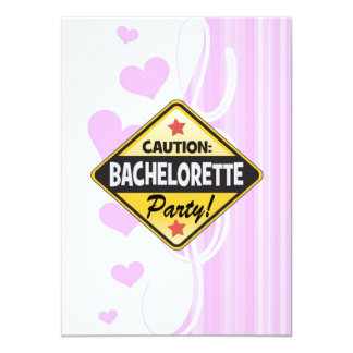caution bachelorette party yellow warning sign fun 11 cm x 16 cm invitation card