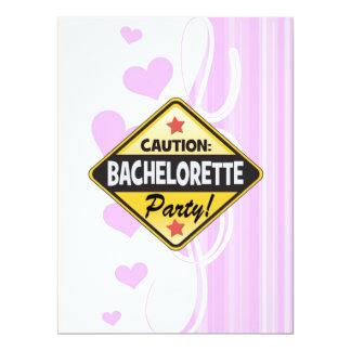 caution bachelorette party yellow warning sign fun 17 cm x 22 cm invitation card