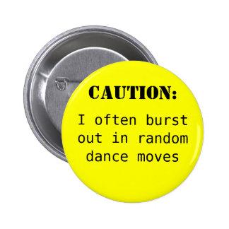 Caution: 6 Cm Round Badge
