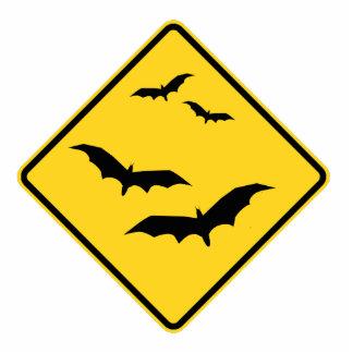 Caution Bats Photosculpture Cutout Standing Photo Sculpture