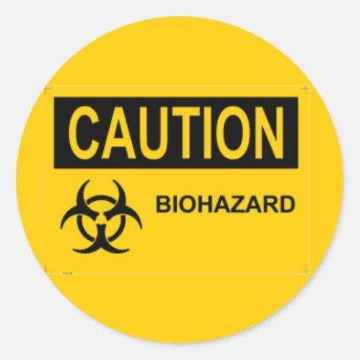 CAUTION Biohazard Sticker