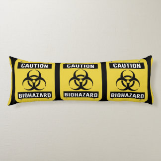 Caution - Biohazard Symbol Body Cushion