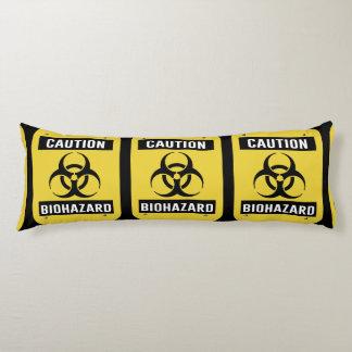 Caution - Biohazard Symbol Body Cushion