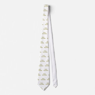 caution blond thinking tie