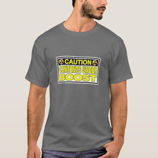 Caution: BOOST - T-Shirt Dark Grey