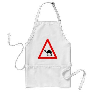 Caution Camel Crossing Traffic Sign Standard Apron
