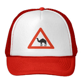 Caution Camels, Traffic Sign, United Arab Emirate Trucker Hats