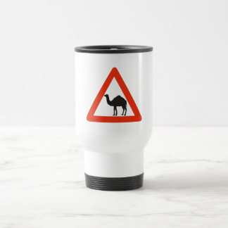 Caution Camels, Traffic Sign, United Arab Emirate Stainless Steel Travel Mug
