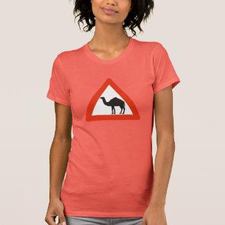 Caution Camels, Traffic Sign, United Arab Emirate Tshirts