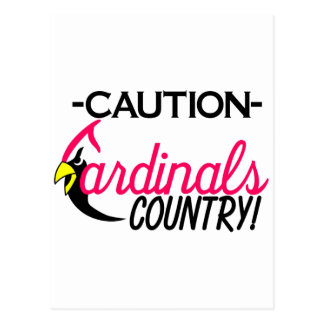 Caution Cardinals Postcard