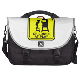 Caution Children at Play - bandsaw Bags For Laptop