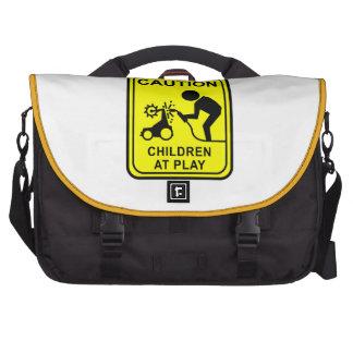 Caution Children at Play - bot welder Commuter Bag