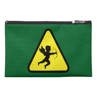 Caution: Cupid Travel Accessory Bag
