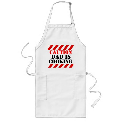 Caution Dad is cooking graphic cooks apron