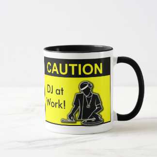 Caution DJ at Work! Mug