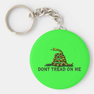 "CAUTION ""Don't Tread On Me"" FLAG Keychain"