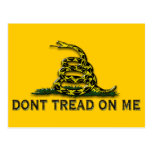 """CAUTION """"Don't Tread On Me"""" FLAG Post Cards"""