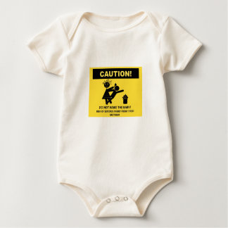 Caution! Don't Wake Baby Vest Baby Bodysuit