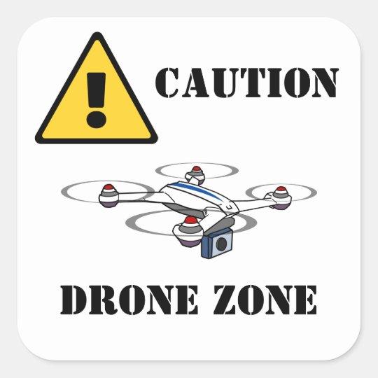 caution drone zone sticker
