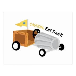 Caution Eat Dust Postcard
