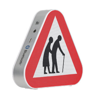 CAUTION Elderly People - UK Traffic Sign