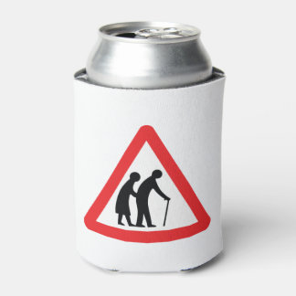 CAUTION Elderly People - UK Traffic Sign Can Cooler