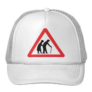 CAUTION Elderly People - UK Traffic Sign Cap