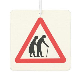 CAUTION Elderly People - UK Traffic Sign Car Air Freshener