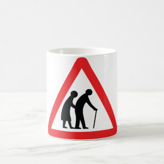CAUTION Elderly People - UK Traffic Sign Coffee Mug