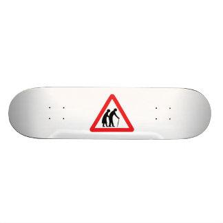 CAUTION Elderly People - UK Traffic Sign Skateboards