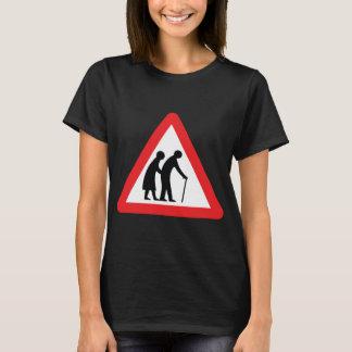 CAUTION Elderly People - UK Traffic Sign T-Shirt