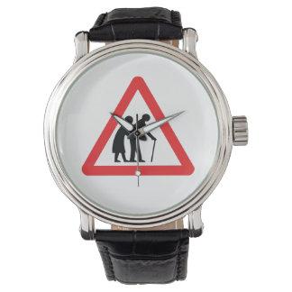 CAUTION Elderly People - UK Traffic Sign Watch