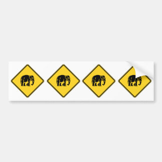Caution Elephants Crossing ⚠ Thai Road Sign ⚠ Bumper Sticker