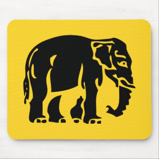 Caution Elephants Crossing ⚠ Thai Road Sign ⚠ Mouse Mat