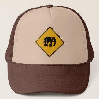 Caution Elephants Crossing ⚠ Thai Road Sign ⚠ Trucker Hat