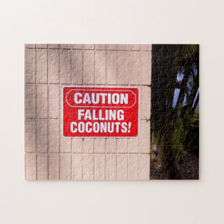 Caution - Falling Coconuts! Jigsaw Puzzle