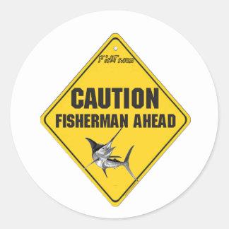 Caution Fishermen Ahead Stickers