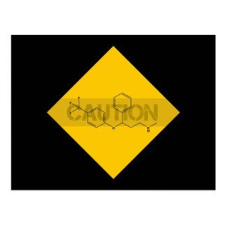 Caution Fluoxetine Post Card