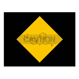 Caution: Fluoxetine Postcard