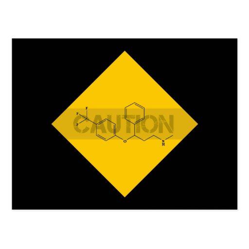 Caution: Fluoxetine Post Card